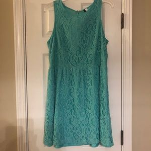 Kensie Mint Green Fit and Flare Dress